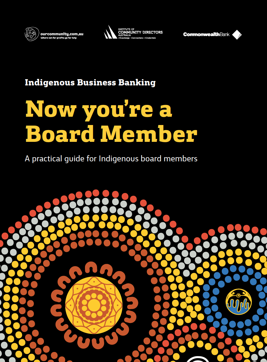 Now You're a Board Member: A practical guide for Indigenous board members