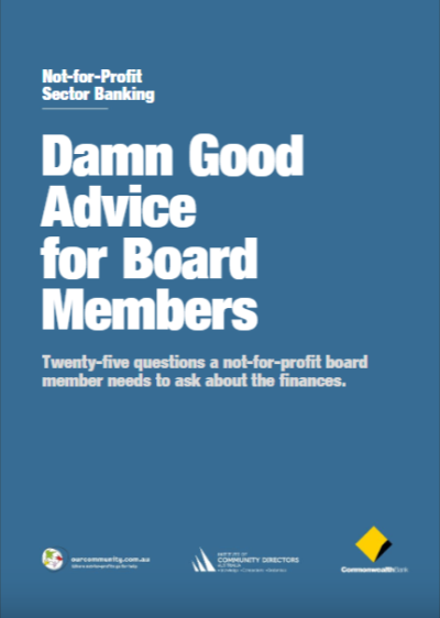 Damn Good Advice for Board Members Cover
