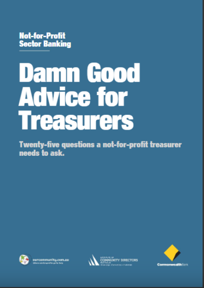 Damn Good Advice for Treasurers Cover