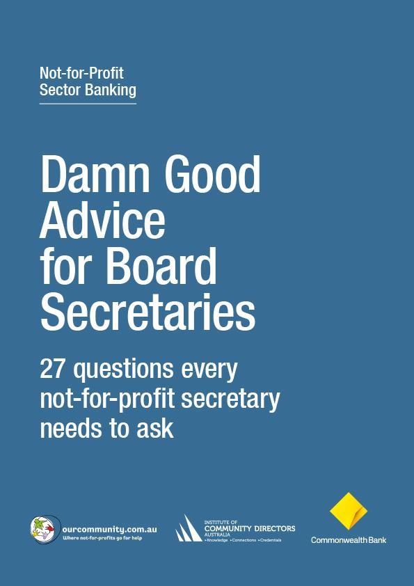 Damn Good Advice for Board Secretaries