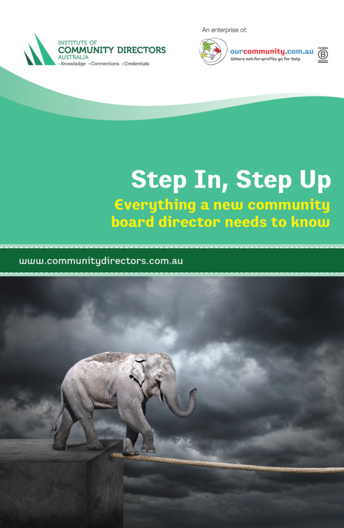 Step In, Step Up: Everything a new community board director needs to know