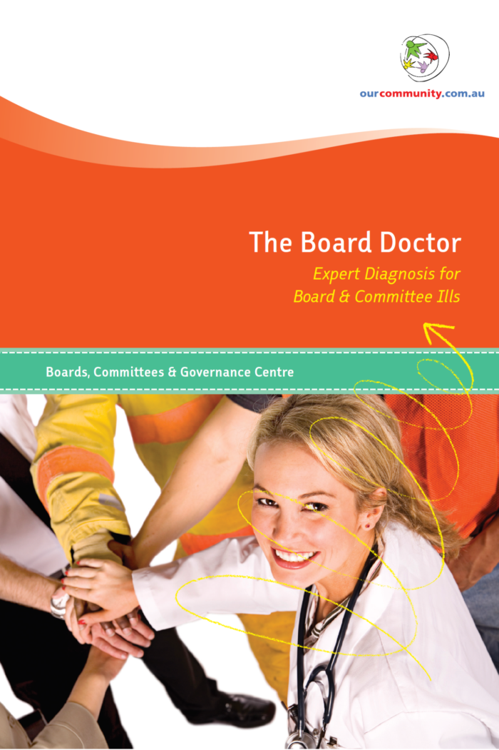 The Board Doctor: Expert Diagnosis for Board & Committee Ills