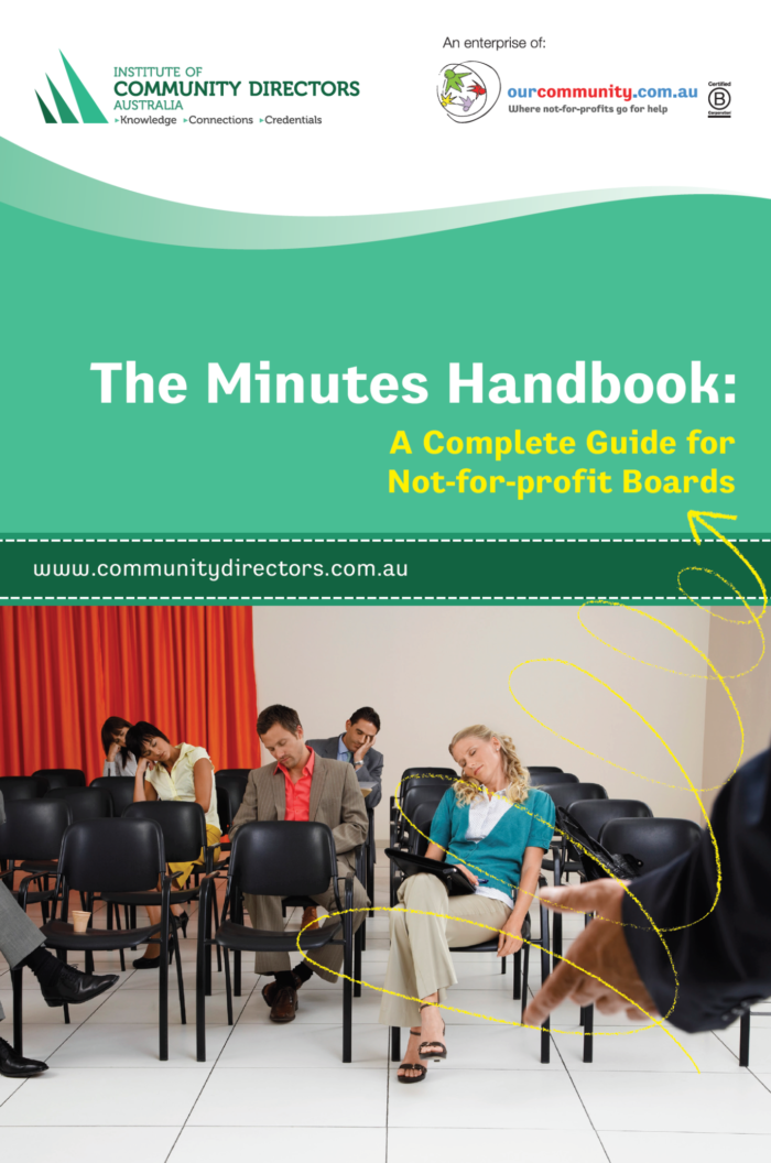 The Minutes Handbook: A Complete Guide for Not-for-profit Boards