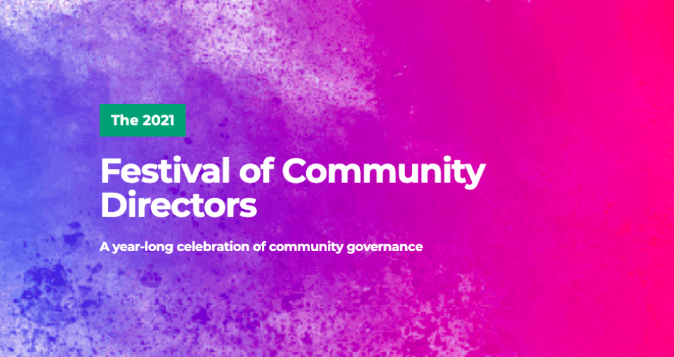 Get back on track with the 2021 Festival of Community Directors