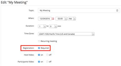 Edit my meeting