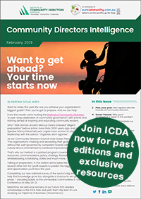 Join the Institute of Community Directors Australia
