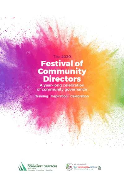 Festival of Community Directors to return bigger and better in 2020
