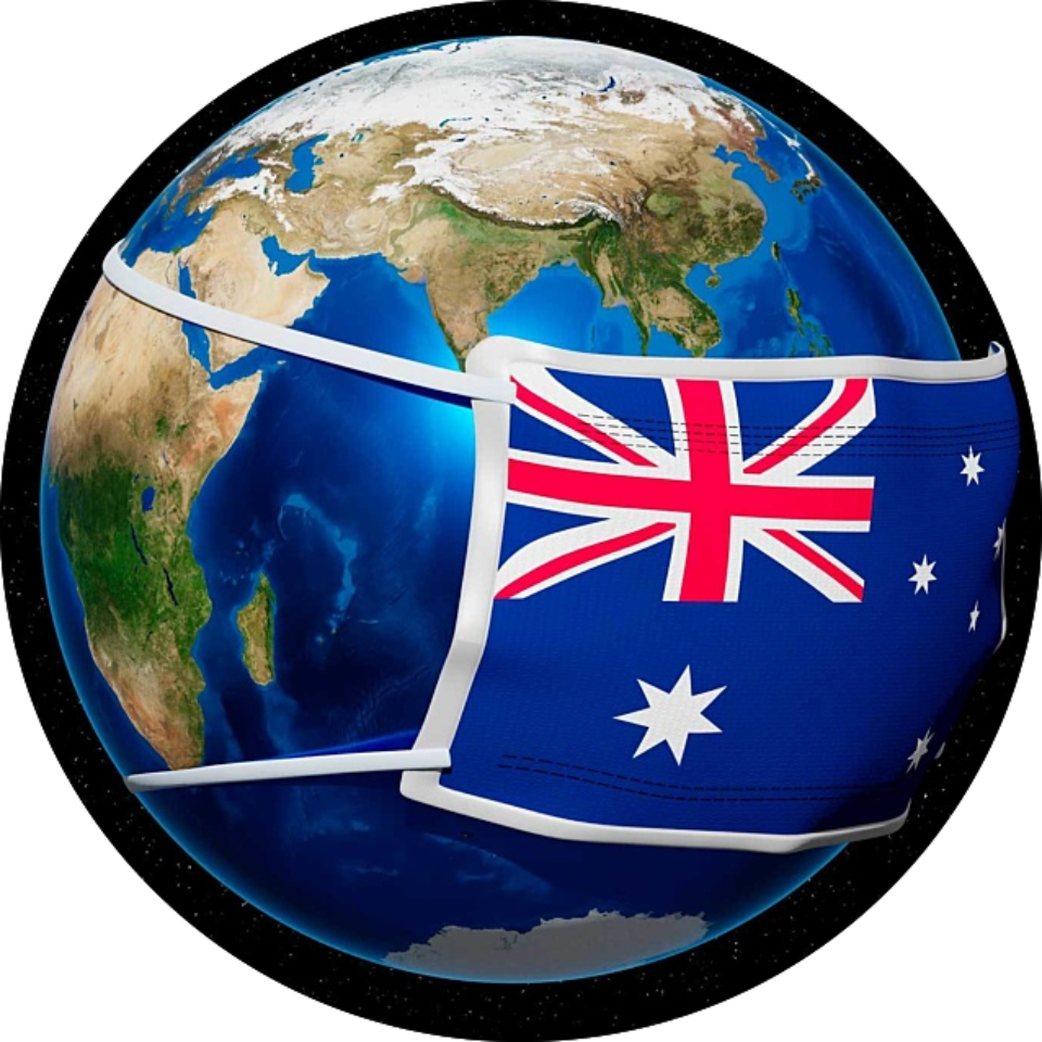 Earth facemask australia circle