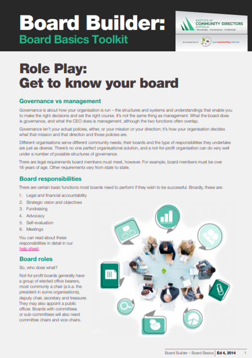 Edition 4, 2014: Board Basics Toolkit