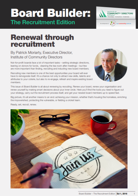 Edition 1, 2016: Renewal Through Recruitment