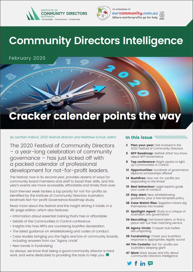 February 2020: Cracker calendar points the way